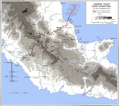 map of the Kokoda Trail campaign